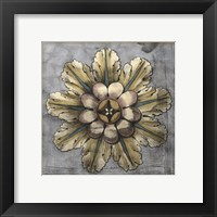 Framed Rosette & Damask II