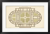 Framed Antique Garden Plan I