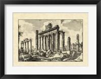Framed Vintage Roman Ruins I