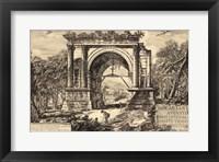 Framed Vintage Roman Ruins II