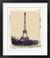 Framed Eiffel View I