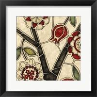 Framed Floral Mosaic I