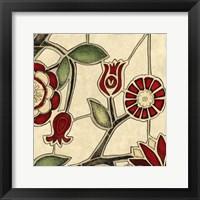 Framed Floral Mosaic II