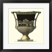 Framed Crackled Large Giardini Urn I