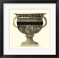 Framed Crackled Large Giardini Urn II