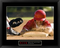 Risk-Baseball Framed Print