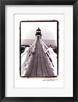 Framed Marshall Point Light, Maine