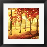 Framed Golden October I