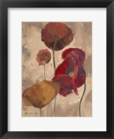 Framed Textured Poppies II