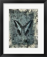 Framed Butterfly Calligraphy IV