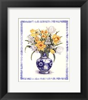 Framed Daffodils and Tulips