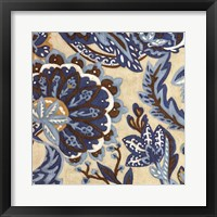 Framed Custom Indigo Tapestry I