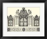 Framed B&W Grand Garden Gate I