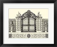 Framed B&W Grand Garden Gate II