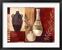 Framed Spice Vases I