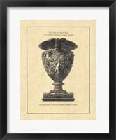 Framed Vintage Harvest Urn I - Vaso Antico