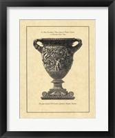 Framed Vintage Harvest Urn II - Vaso Antico
