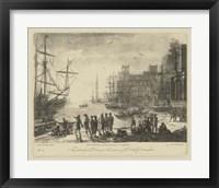Framed Antique Harbor II