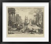 Framed Antique Harbor V