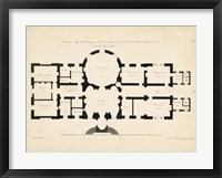 Framed Antique Building Plan I
