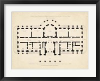 Framed Antique Building Plan II