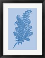 Framed Porcelain Blue Motif IV
