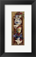 Framed Porcelain and Pansies