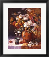 Framed Mums and Persimmons