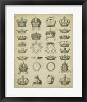 Framed Heraldic Crowns & Coronets III