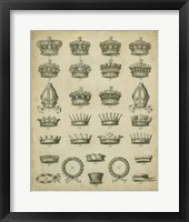 Framed Heraldic Crowns & Coronets IV