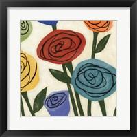 Framed Pop Roses I
