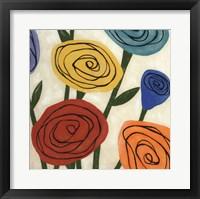 Framed Pop Roses II