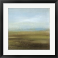 Aquamarine Skyline II Framed Print