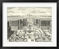 Fountains of Versailles I Framed Print