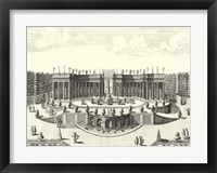 Fountains of Versailles III Framed Print