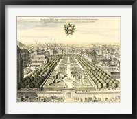 Formal Garden View I Framed Print