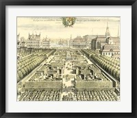 Formal Garden View III Framed Print