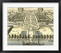Formal Garden View IV Framed Print