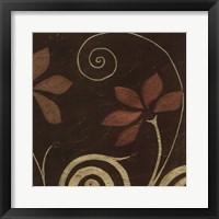 Cardamon Floral I Framed Print