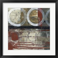 Circles & Stripes II Framed Print