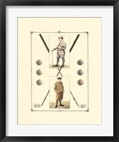 Framed Golfers: John Henry & R. Maxwell