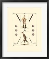Framed Golfers: H. Hutchinson & John Ball