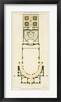 Framed Plan de la Villa di Papa Guilio