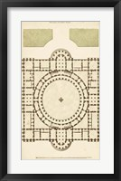 Framed Antique Garden Plan III