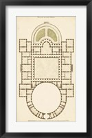 Framed Antique Garden Plan IV