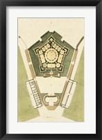 Framed Plan du Rez De Chaussee du Palais