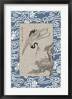 Framed Asian Crane Panel I