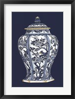 Framed Blue & White Porcelain Vase II