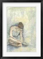 Ballerina Repose I Framed Print