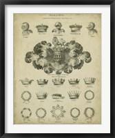Framed Heraldic Crowns & Coronets I